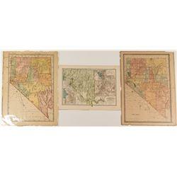 Three Nevada Double Truck Maps