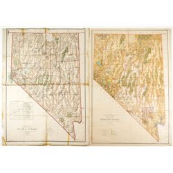 Two Nevada Wall Maps