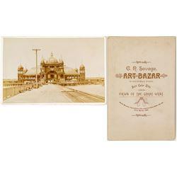 Choice C.R. Savage Cabinet Card Pavilion Saltair Beach Salt Lake.