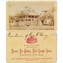 Photo of Brigham Young Residence on CDV