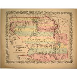 Colton Map of New Mexico and Utah