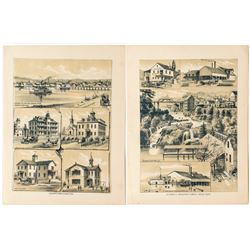 Early prints of buildings at Olympia