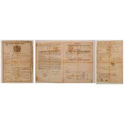 1854 German Immigration Document