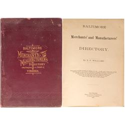 Baltimore Merchants' and Manufacturers' Directory