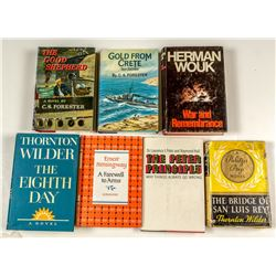 American Mainstream Literature First Edition With Dust Jackets
