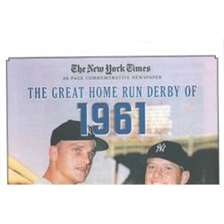 Mickey Mantle Unsigned New York Yankees Home Run Derby Of 1961 Greatest Moments In History New York