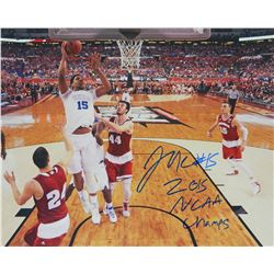 Jahlil Okafor Signed Duke Championship Game Lay Up 16X20 Photo W/2015 NCAA Champs
