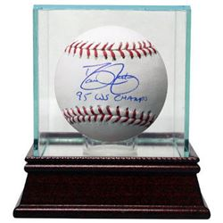 David Justice Signed Official Major League Baseball 95 WS Champs W/ Glass Case (Atlanta Braves)