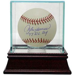 Andre Dawson Signed Official Major League Baseball 77NLROY W/ Glass Case (Montreal Expos/Chicago Cub