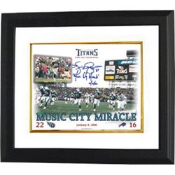 Music City Miracle Signed Tennessee Titans 8X10 Photo W/ Kevin Dyson Signature Custom Framed