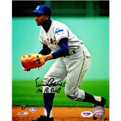 745f16ca11b Ernie Banks Signed Chicago Cubs Fielding Action 8X10 Photo W Mr Cub