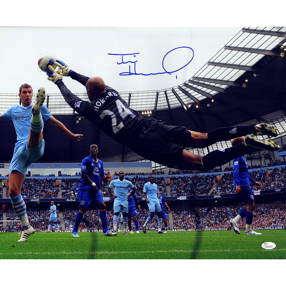 newest e9550 63ba7 Tim Howard Signed Black Jersey Everton Save 16X20 Photo ...