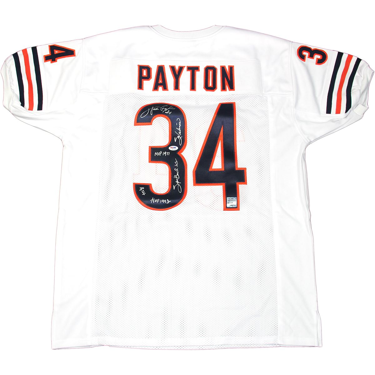 4cec4aa1 Walter Payton Signed Authentic White Chicago Bears Jersey W ...