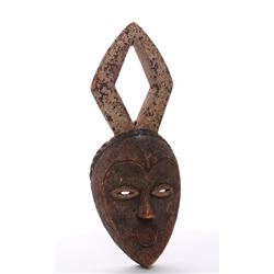 Antique African wood mask, Republic of Congo.