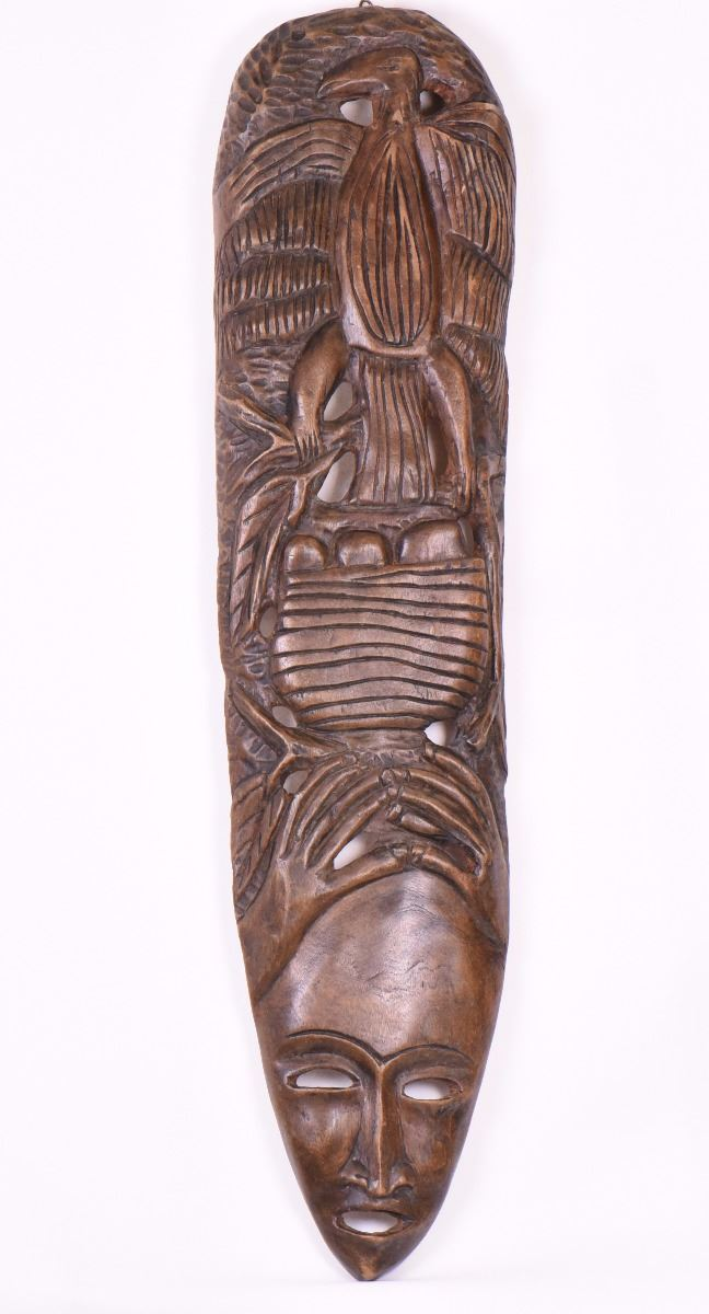 Vintage African Wall Art Wood Carving Size