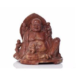 Chinese Soapstone Or Steatite Buddha Carving O