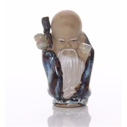 Chinese mud man figurine of the longevity God