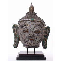 Huge hand painted mixed medium Hindu God bust.