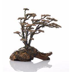 Bronze/Copper Tree Atop A Burl Wood Root Base