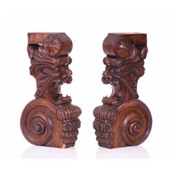 Antique Architectural Elements Carved From Woo