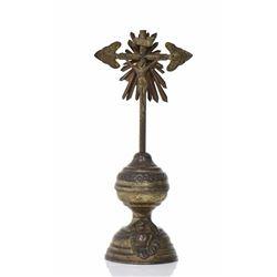 European Brass Altar Cross.   Estimated more t