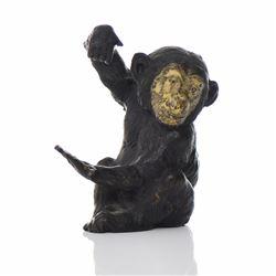 Hand Painted Bronze Monkey (Original Paint) Co
