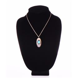 """Navajo, """"Teresa"""" Sterling Silver and Turquoise"""