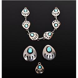 DF, Navajo, Sterling Silver Bracelet, Earrings