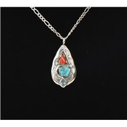 Effie Calavaza, Zuni Turquoise And Red Coral S