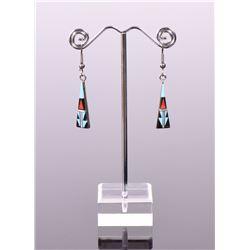 BY, Zuni, Sterling Silver Earrings. Silver Tes