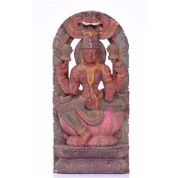 Nepali (Nepalese) Polychromed Wood Carving of