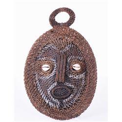 Papua New Guinea Woven Turtle Shell Mask.  Est