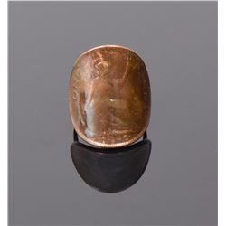 1940 George VI British Bronze Penny Ring with