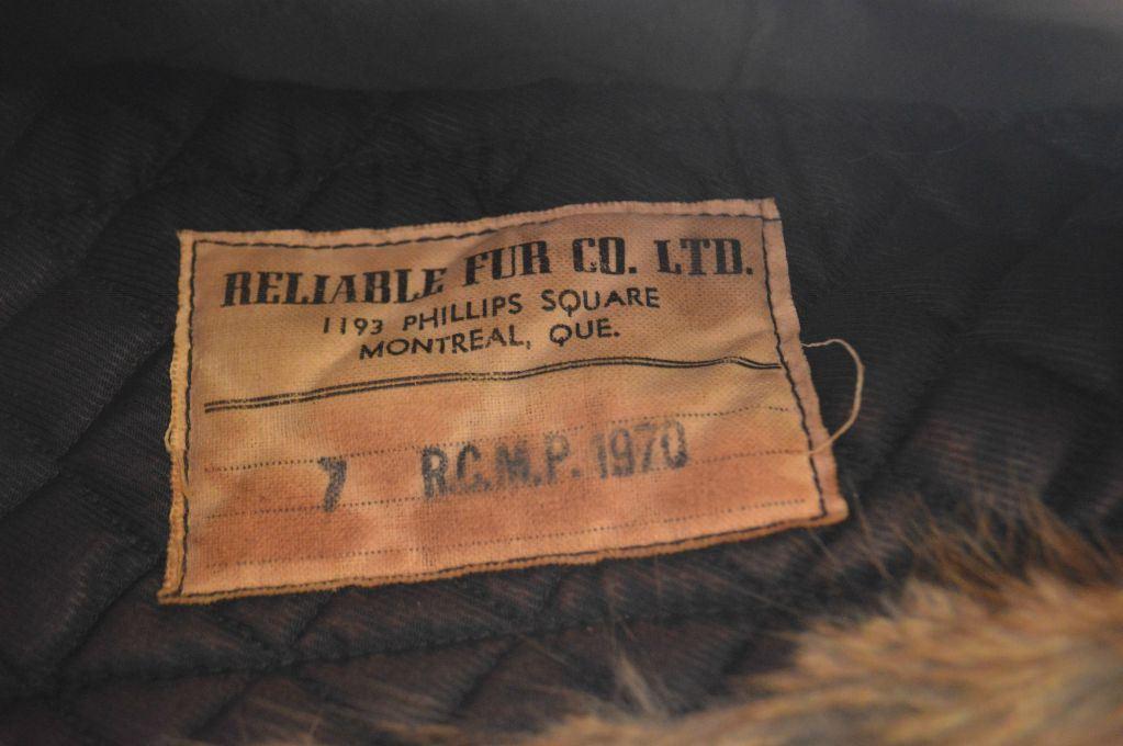 90f24ad40d3d8 Ltd Dated · Image 2   RCMP Beaver Winter Hat Size 7   Reliable Fur Co. Ltd  Dated