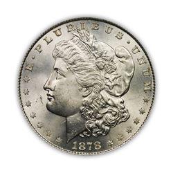 1878 $1 Morgan Silver Dollar 8 Tail Feather VG