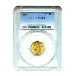 1906 $2.50 Liberty Gold Quarter Eagle PCGS MS63