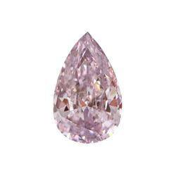 Fancy Purple Pink Pear Shape, I2 Clarity Diamond (0.21 Carat)