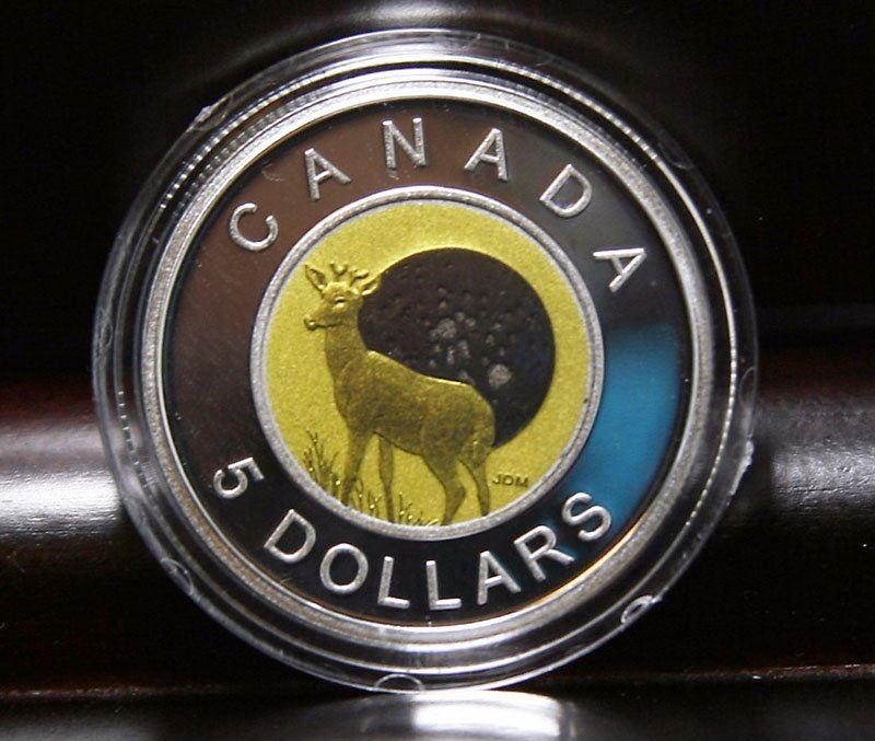 2011 Canada $5 Sterling Silver & Niobium Coin - Full Buck