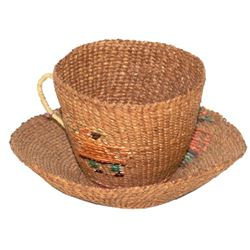 Tsimsian Basketry Cup & Saucer