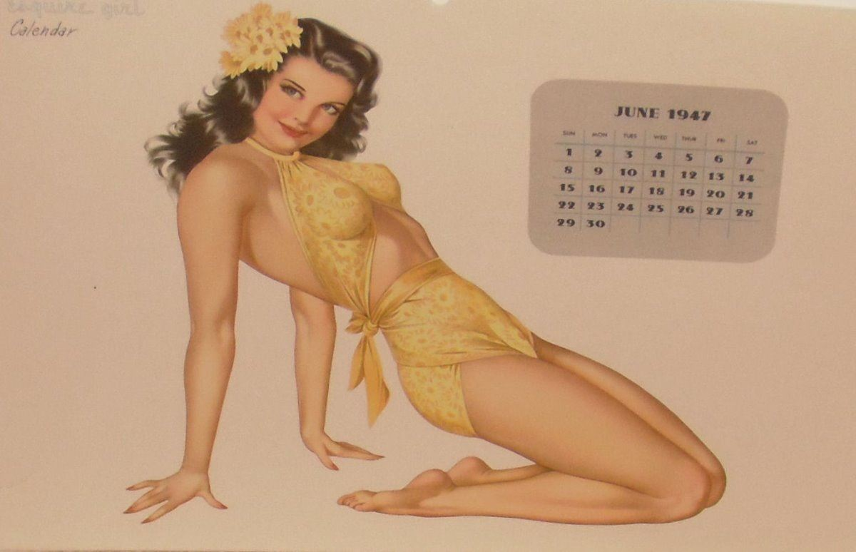 Calendrier Pin Up.Pin Up June Page 1947 Calendrier