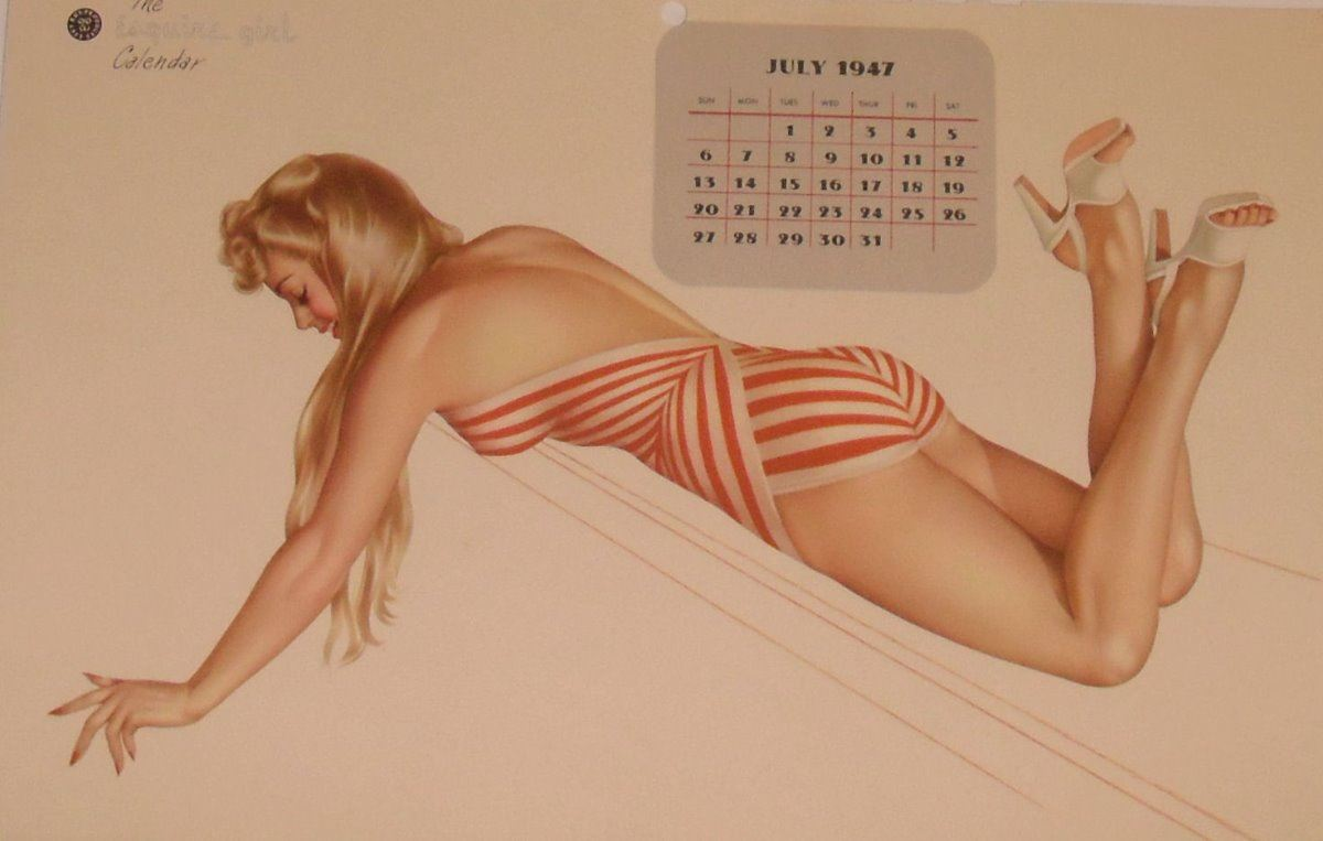 Calendrier Pin Up.Pin Up July Page 1947 Calendrier