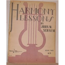 Harmony Lessons by John W Schaum Book 2 1949  30 pages sheet music - notes de musique