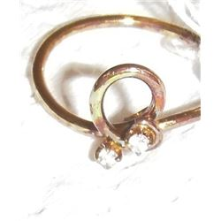 14 kt gold ring - bague 14 carats or
