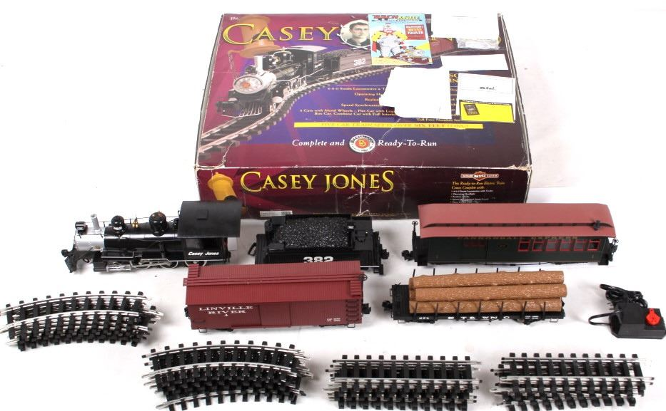 Six Foot Bachmann Casey Jones G Scale Train Set