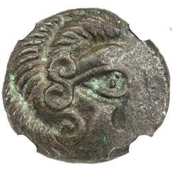 GAUL: Coriosolites, ca. 100-150 BC, BI stater, Armorica. NGC EF