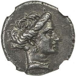EUBOEA: Anomymous, ca. 290-271 BC, AR drachm, Chalcis. NGC EF