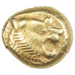 LYDIA: temp. Alyattas to Kroisos, ca. 610-546 BC, electrum trite (4.73g). VF