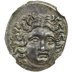 MACEDONIAN KINGDOM: Perseus, 179-168 BC, AR drachm. NGC MS