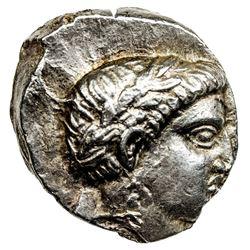 PAEONIAN KINGDOM: Patraos, ca. 340-315 BC, AR tetradrachm (12.70g). EF
