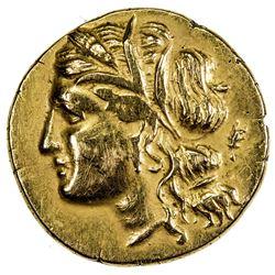 SYRACUSE: Hieronymos, 215-214 BC, AV diobol (1.49g). VF